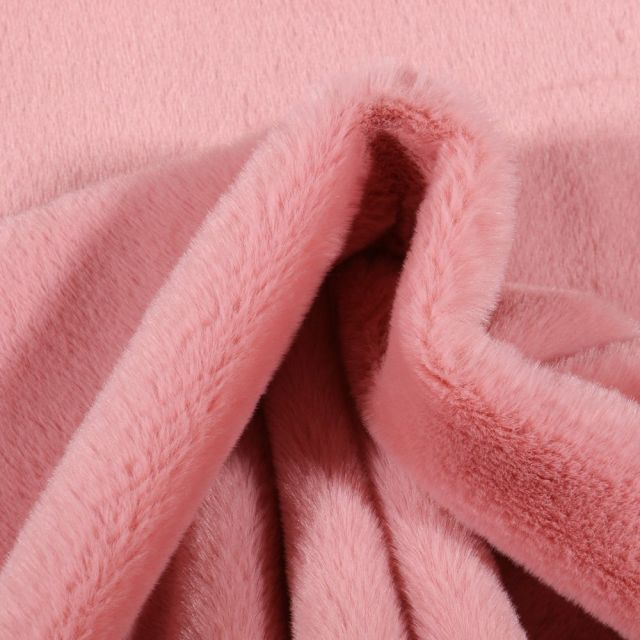 Tissu Fausse fourrure Bear Ultra douce Rose - Par 10 cm