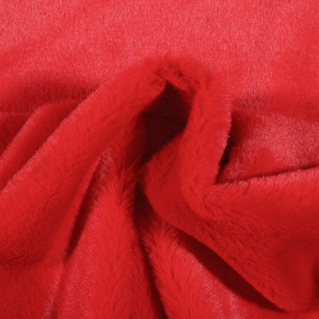 Tissu Fausse fourrure Bear Ultra douce Rouge - Par 10 cm