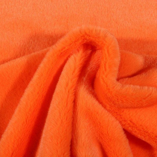 Tissu Fausse fourrure Bear Ultra douce Orange - Par 10 cm