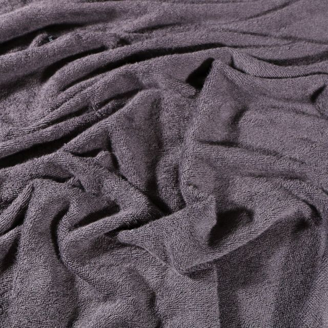 Tissu Eponge Bébé Bambou Tout doux Gris foncé - Par 10 cm
