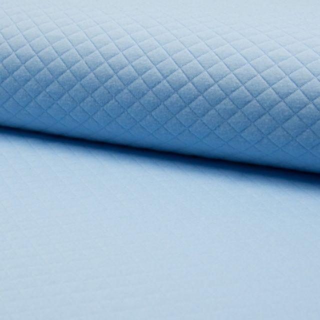 Tissu Sweat léger Matelassé Blue - Par 10 cm
