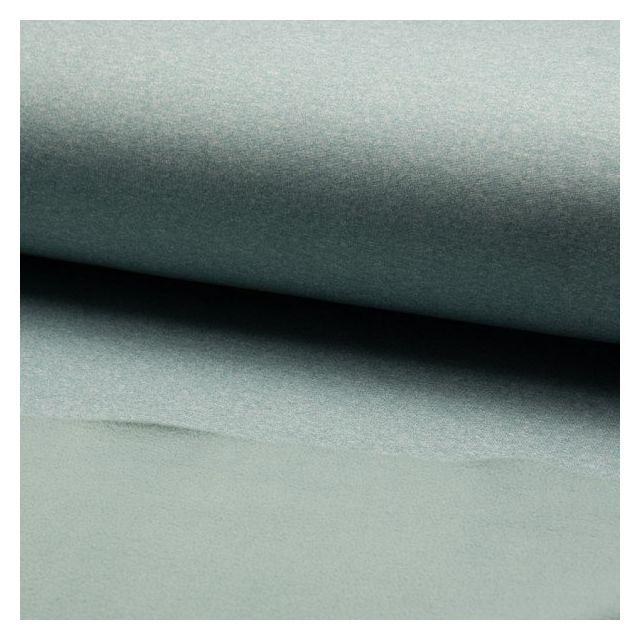 Tissu Softshell chiné envers polaire  Vert d'eau - Par 10 cm