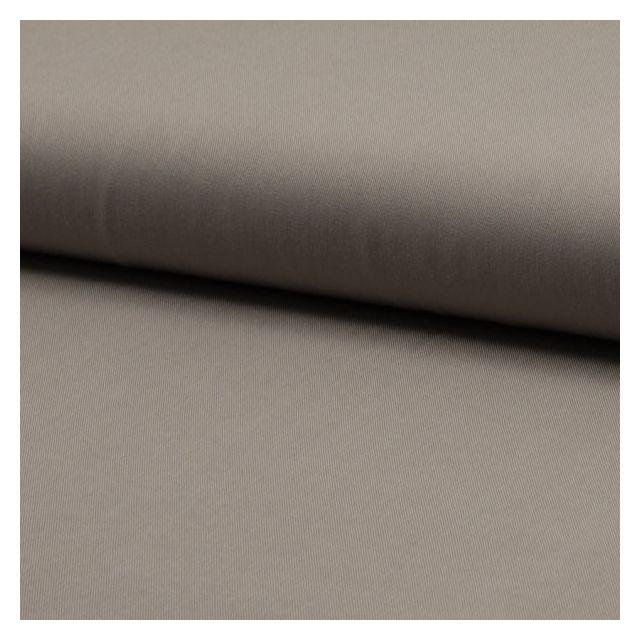 Tissu Viscose Twill uni Taupe - Par 10 cm
