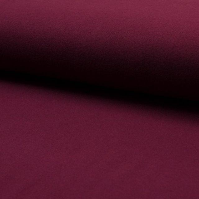 Tissu Drap de manteau Rouge Bordeaux - Par 10 cm
