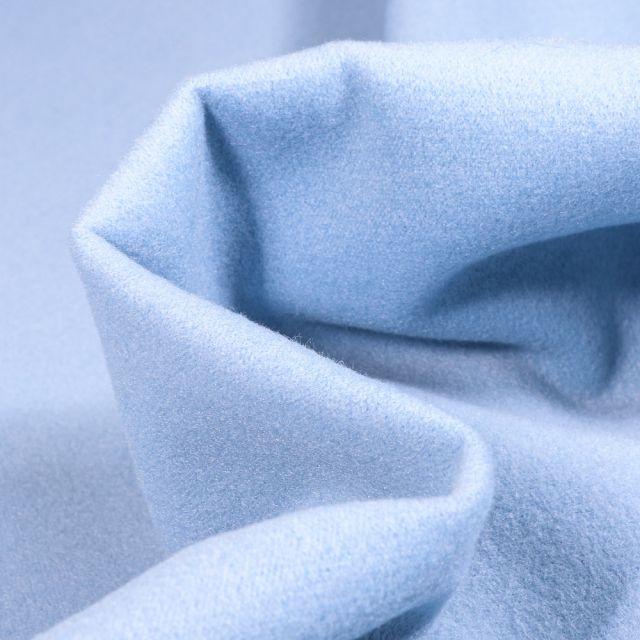 Tissu Drap de manteau Bleu ciel - Par 10 cm