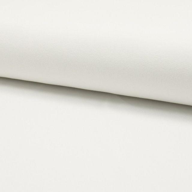 Tissu Crêpe Scuba Uni Blanc Cassé - Par 10 cm