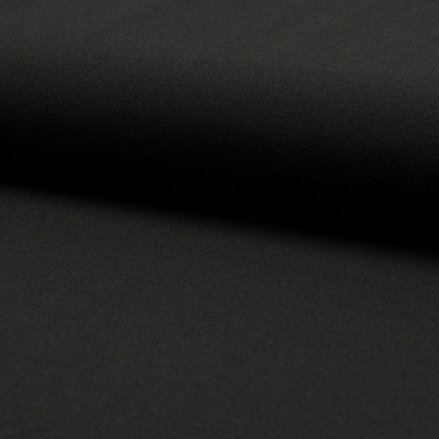Tissu Crêpe Scuba Uni Noir - Par 10 cm