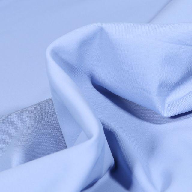 Tissu Lycra léger Travel uni Bleu ciel