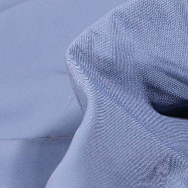 Tissu Lycra léger Travel uni Bleu ancien