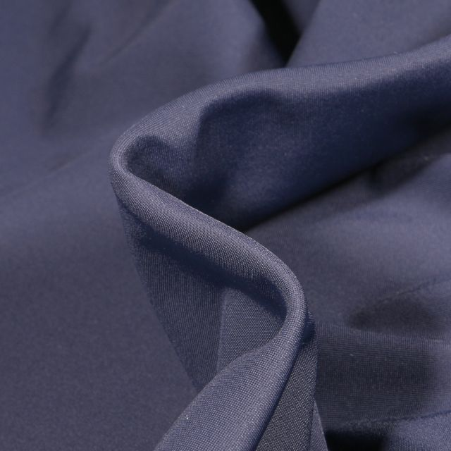 Tissu Lycra léger Travel uni Bleu marine