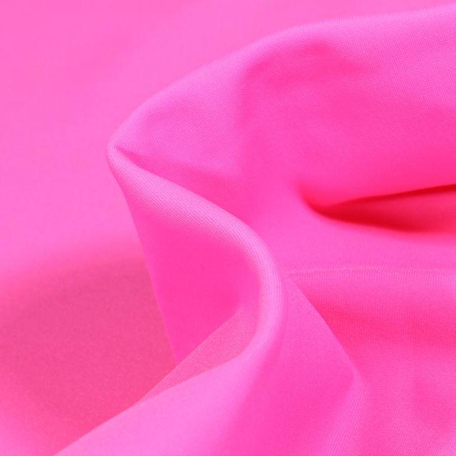Tissu Lycra léger Travel uni Rose