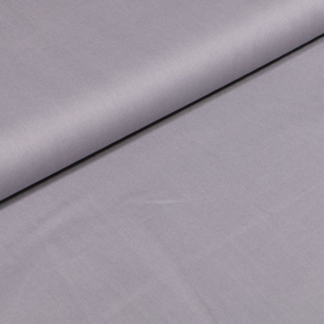 Tissu Popeline Coton uni Bio Gris - Par 10 cm