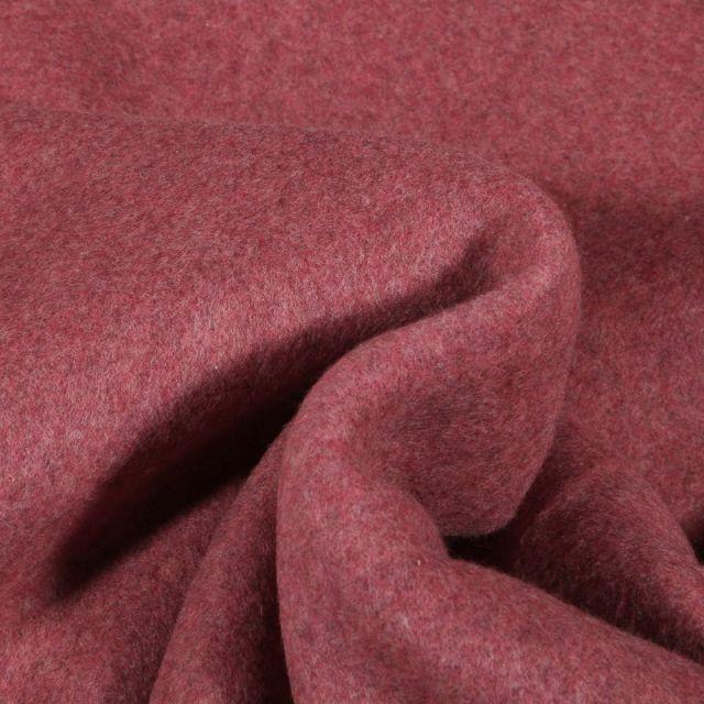 Tissu Polaire Coton Bio uni Lie de vin - Par 10 cm