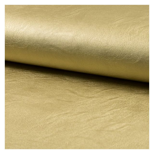 Tissu Simili Cuir Stretch nacré Doré - Par 10 cm