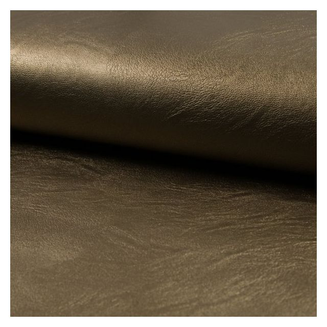 Tissu Simili Cuir Stretch nacré Bronze - Par 10 cm