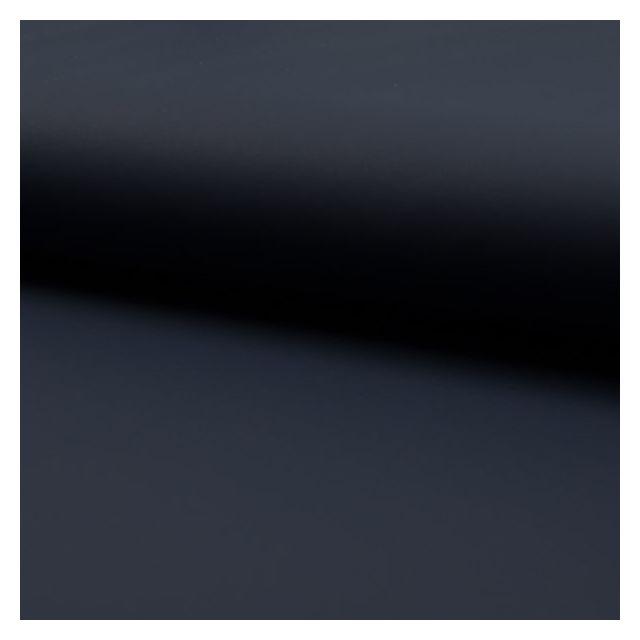 Tissu Simili cuir souple uni mat Bleu marine - Par 10 cm