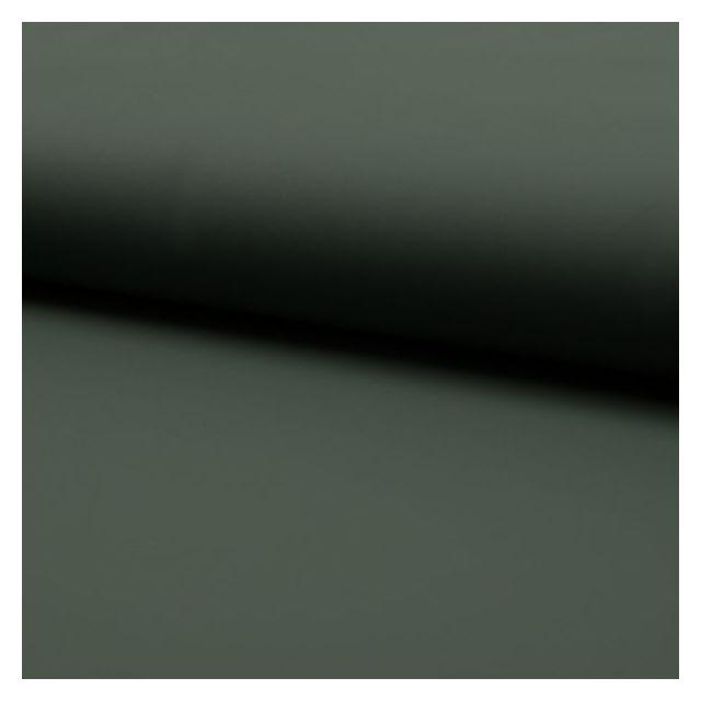 Tissu Simili cuir souple uni mat Kaki - Par 10 cm
