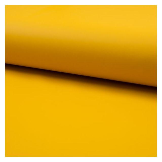 Tissu Simili cuir souple uni mat Moutarde - Par 10 cm
