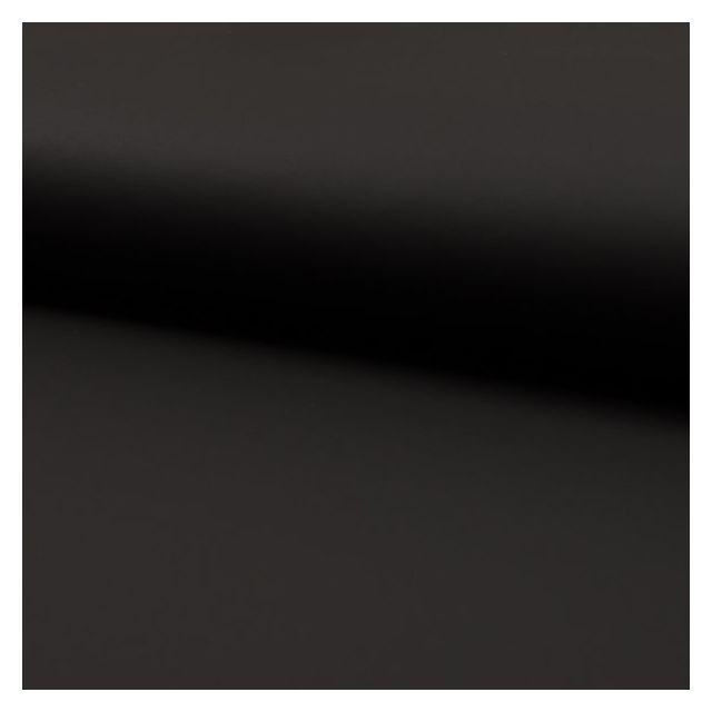 Tissu Simili cuir souple uni mat Noir - Par 10 cm