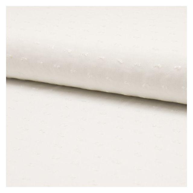 Tissu Plumetis Viscose uni Ecru - Par 10 cm
