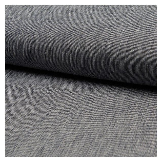 Tissu Lin Coton tissage étamine Bleu marine - Par 10 cm