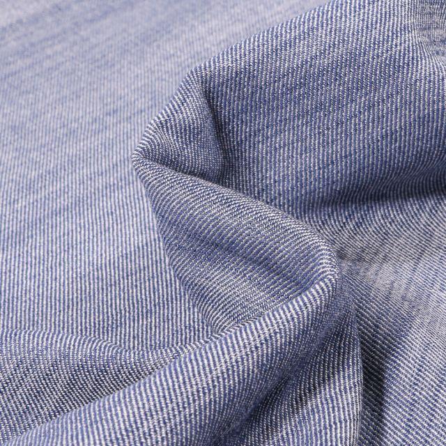Tissu Chambray Hudson Bleu denim