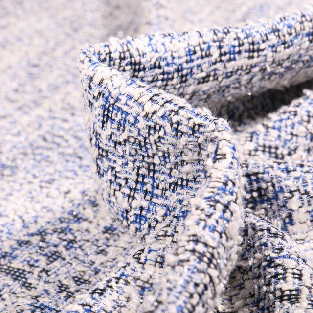Tissu Tweed Rachel Bleu roi