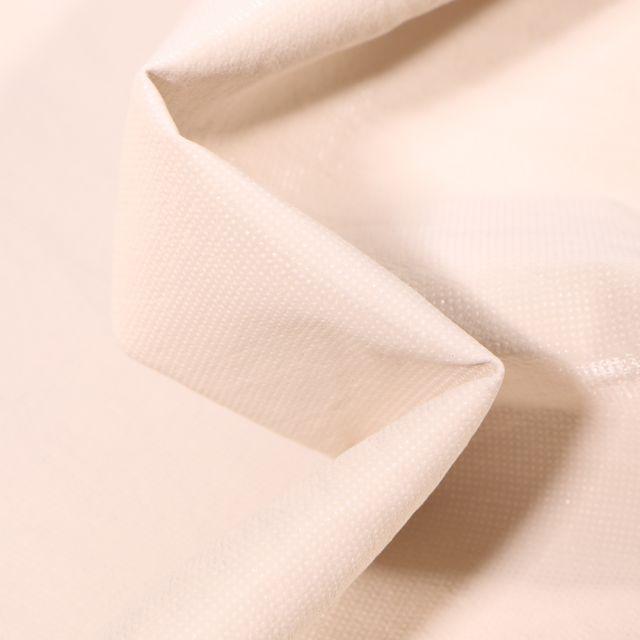 Tissu Simili cuir d'habillement Petits points brillants sur fond Blanc cassé