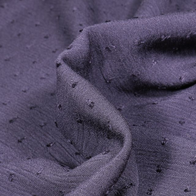 Tissu Viscose Plumetis uni Bleu marine