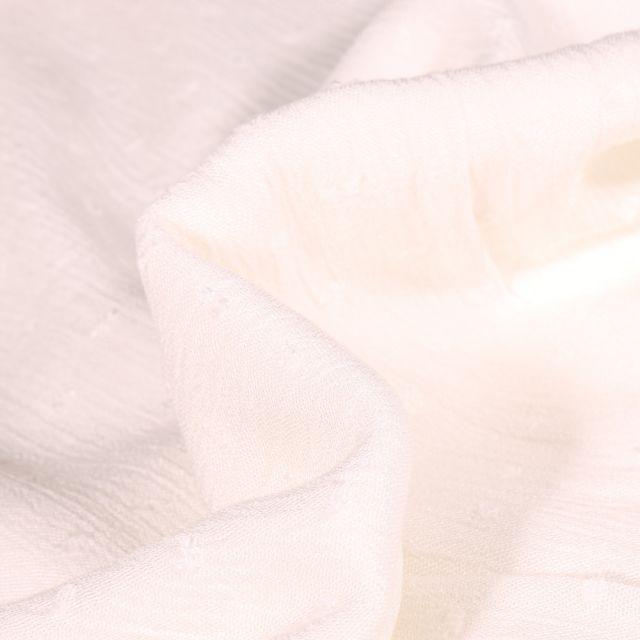 Tissu Viscose Plumetis uni Blanc