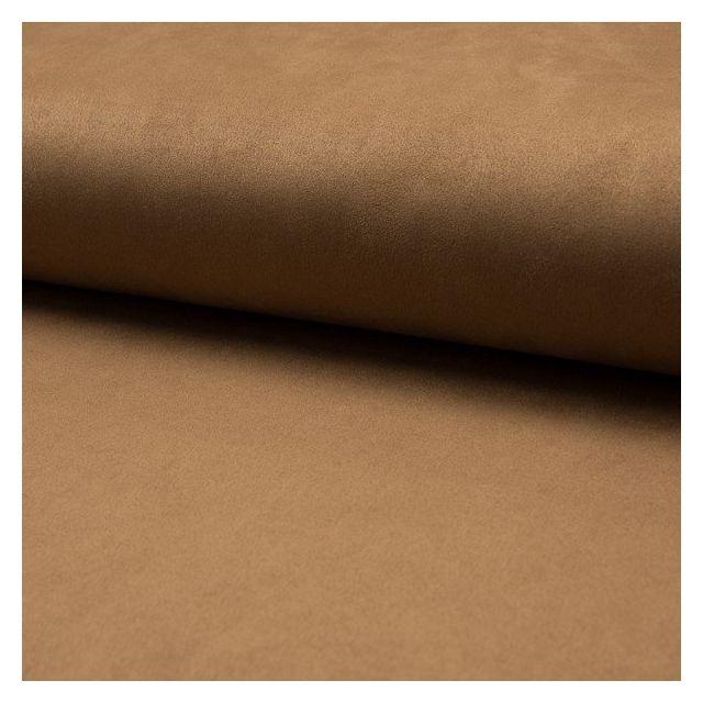 Tissu Suédine Scuba uni Camel - Par 10 cm
