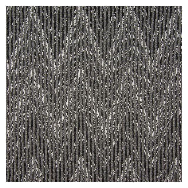Tissu Jersey Jacquard  Zig Zag sur fond Gris - Par 10 cm
