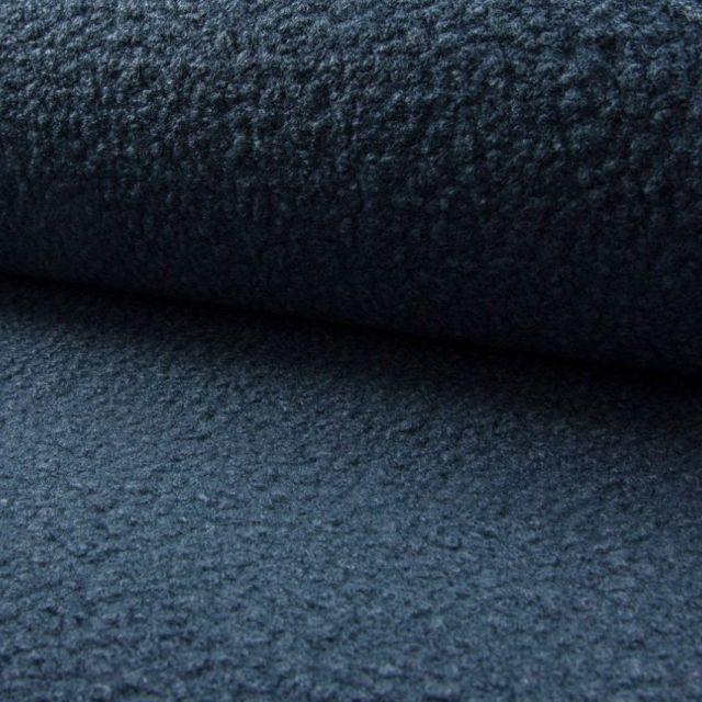 Tissu Lainage bouclettes Bleu gris - Par 10 cm