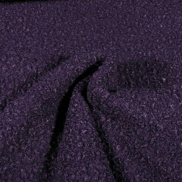 Tissu Lainage bouclettes Violet - Par 10 cm