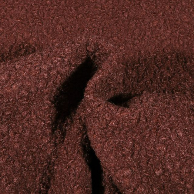 Tissu Lainage bouclettes Marron - Par 10 cm