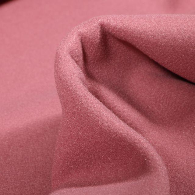 Tissu Drap de manteau Glasgow Vieux rose