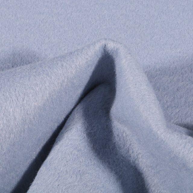 Tissu Drap de manteau épais Bleu ciel - Par 10 cm
