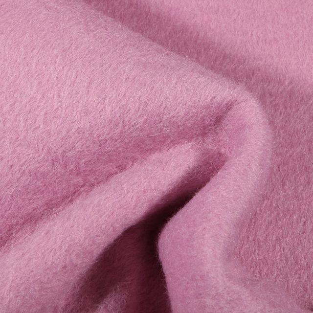Tissu Drap de manteau épais Rose - Par 10 cm