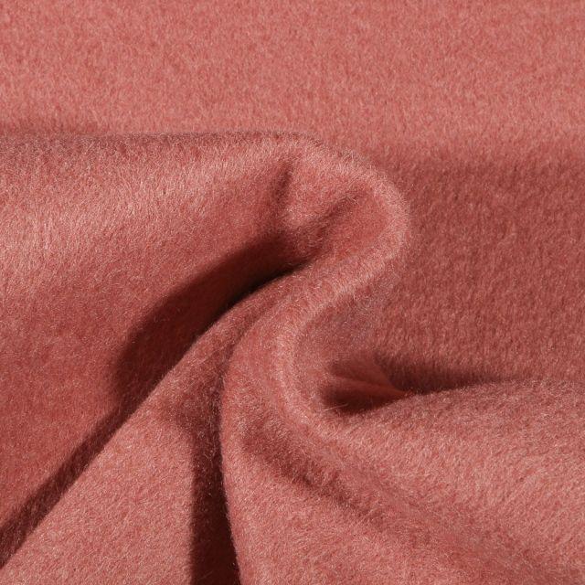 Tissu Drap de manteau épais Terracotta - Par 10 cm