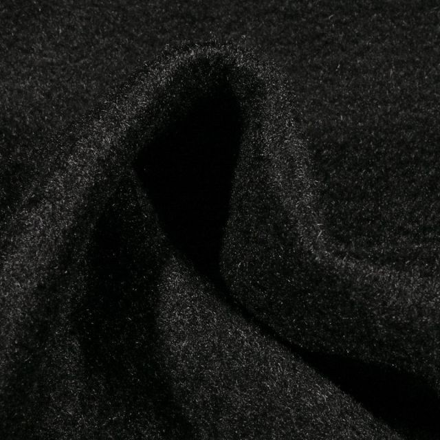 Tissu Drap de manteau épais Noir - Par 10 cm