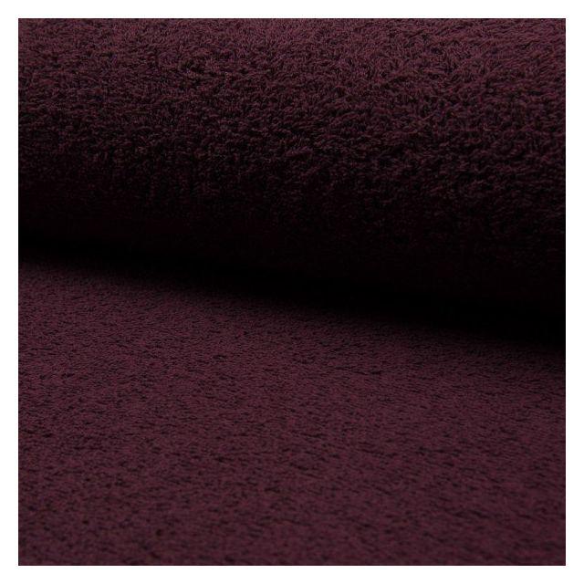 Tissu Eponge légère 320 g/m² Bordeaux - Par 10 cm