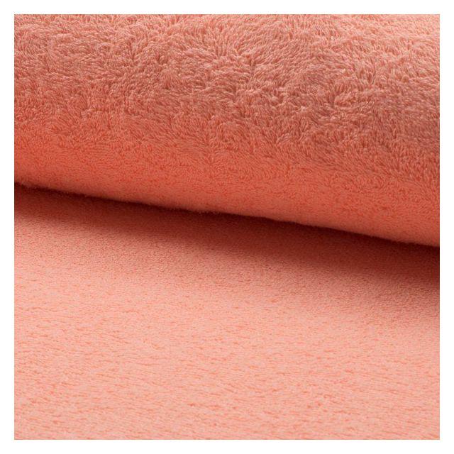 Tissu Eponge légère 320 g/m² Saumon - Par 10 cm