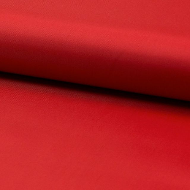 Tissu Doublure Uni Polyester Rouge x10cm