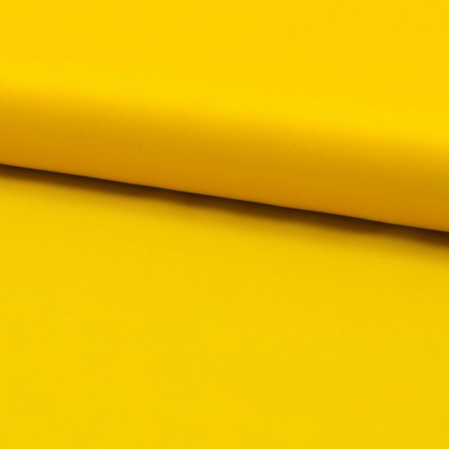 Tissu Doublure Uni Polyester Jaune x10cm