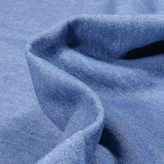 Tissu Jean léger 6 oz uni Bleu clair