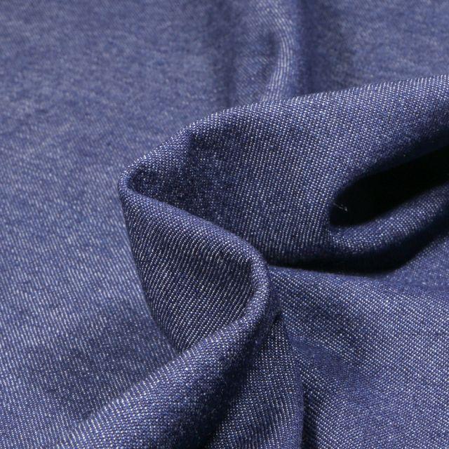 Tissu Jean léger 6 oz uni Bleu