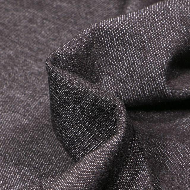 Tissu Jean léger 6 oz uni Noir
