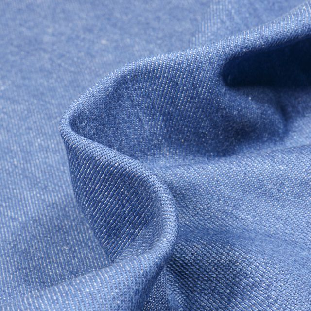 Tissu Jean épais 10 Oz Bleu clair