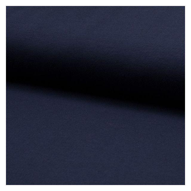Tissu Jersey Piqué de coton spécial Polo Bleu marine - Par 10 cm