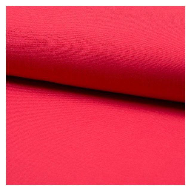 Tissu Jersey Piqué de coton spécial Polo Rouge - Par 10 cm